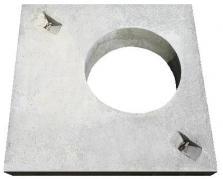 Copertina C.A. 100x100x20 con foro d'ispezione Ø 60